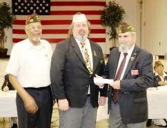 Post 467 check presentation