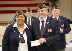 Post 6054 check presentation