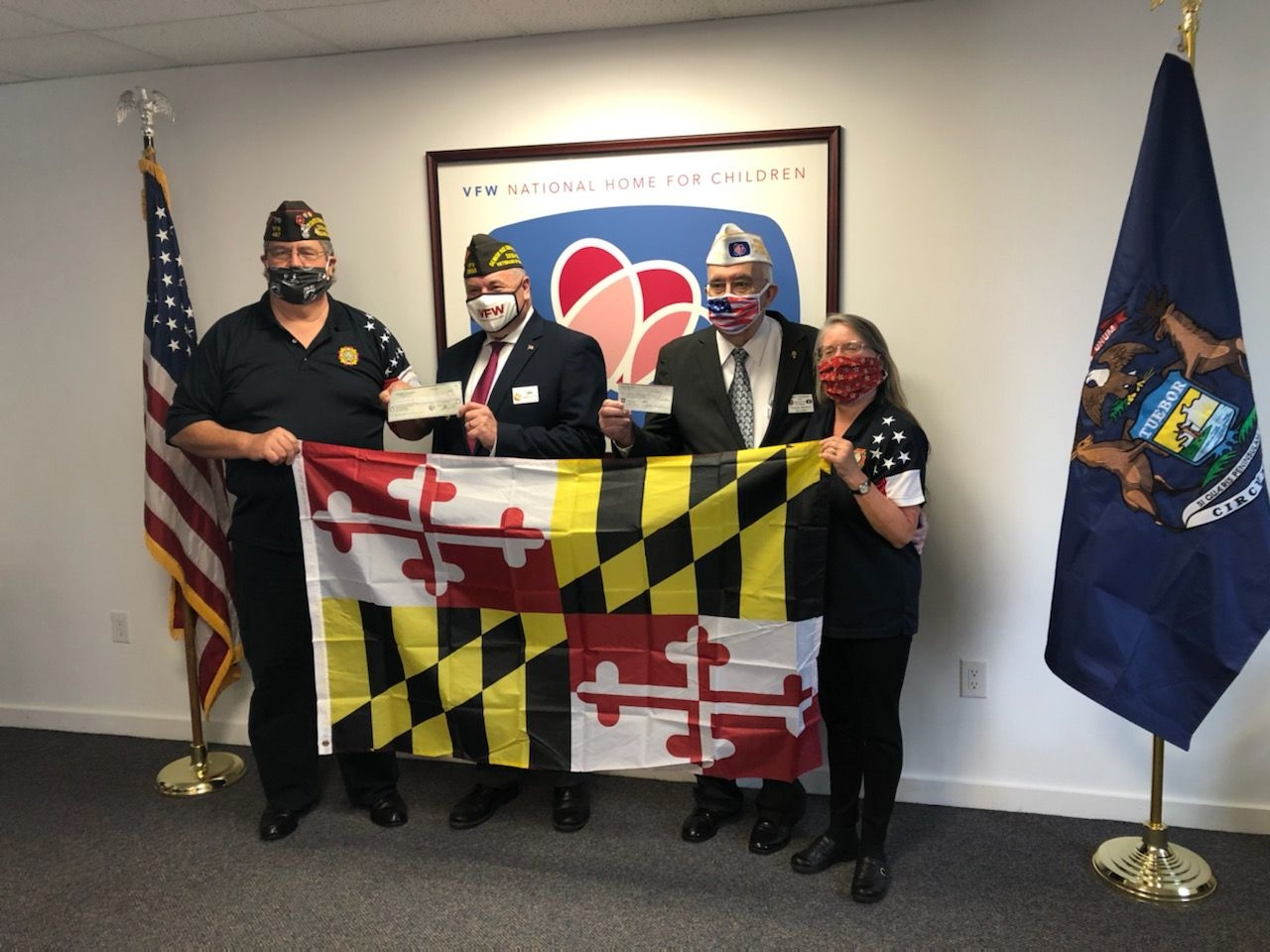Commander Tom Williams special project donation to  VFW National Home